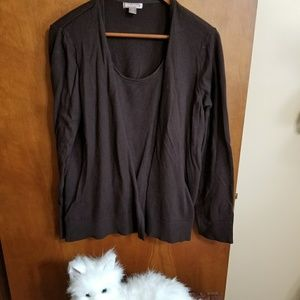 White Stag cardigan sweater with attached sweater